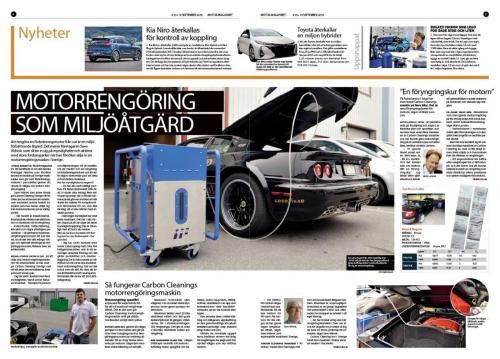 Sweden newspaper engine carbon cleaning